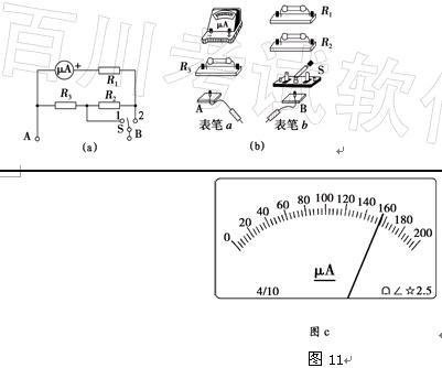 (5)利用改装的电流表进行某次